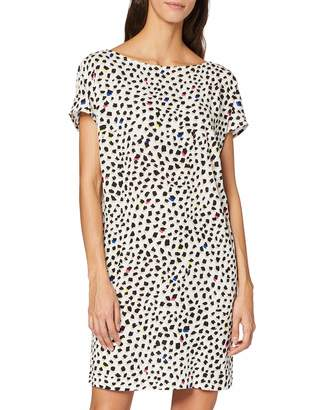 Benetton Women's Printed Woven Dress with Open Back