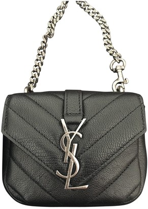 Saint Laurent Baby monogramme Black Leather Clutch bags