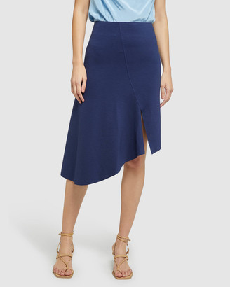 Oxford Lucy Asymetric Hem Ponti Skirt