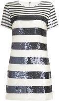 Veronica Beard sequinned striped dress