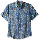Margaritaville Men's Nautical Signs Bbq Shirt