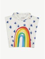 Stella McCartney Rainbow print cotton towelling poncho