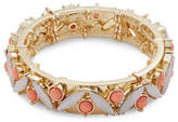 R.J. Graziano Cabochon and Crystal Stretch Bracelet
