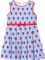 Rachel Riley Blue and Red Kite Print Dress