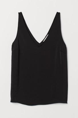 H&M V-neck satin vest top