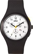 Braun Men's BN0115WHBKBKG Sport Chronograph Analog Display Quartz Black Watch