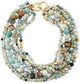 Kenneth Jay Lane Multi-Strand Amazonite Bead Necklace