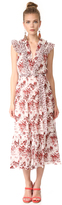 Robert Rodriguez Long Tiered Sleeveless Dress