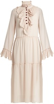 See by Chloe Ruffle-trimmed georgette dress