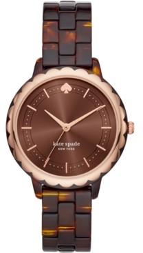 Kate Spade Women's Morningside Tortoise Acetate Bracelet Watch 38mm