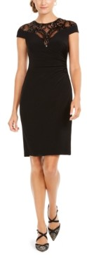 Adrianna Papell Sequin Jersey Dress