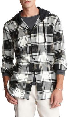 John Varvatos Men's Holger Plaid Hooded Sport Shirt