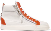 Giuseppe Zanotti Two-tone leather high-top sneakers