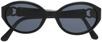 Yves Saint Laurent Pre-Owned Oval Frame Sunglasses