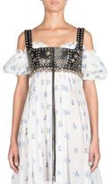 Alexander McQueen Embellished Leather Lace-Up Bustier