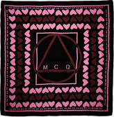 McQ by Alexander McQueen Black & Pink Hearts Scarf