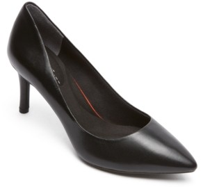 Rockport Women's Total Motion 75 Mm Pointed-Toe Pumps Women's Shoes