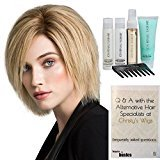 Bundle - 7 Items: BRILLIANCE Human Hair Wig by Ellen Wille, 15 Page Christy's Wigs Q & A Booklet Luxury Shampoo & Conditioner Blown Away Treatment Mist Wide Tooth Comb COLOR: Sandy Blonde Rooted