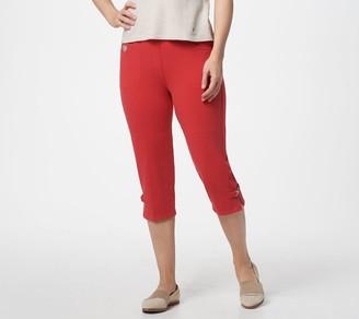 Factory Quacker DreamJeannes Pull-On Capri Pants w/ Rhinestones