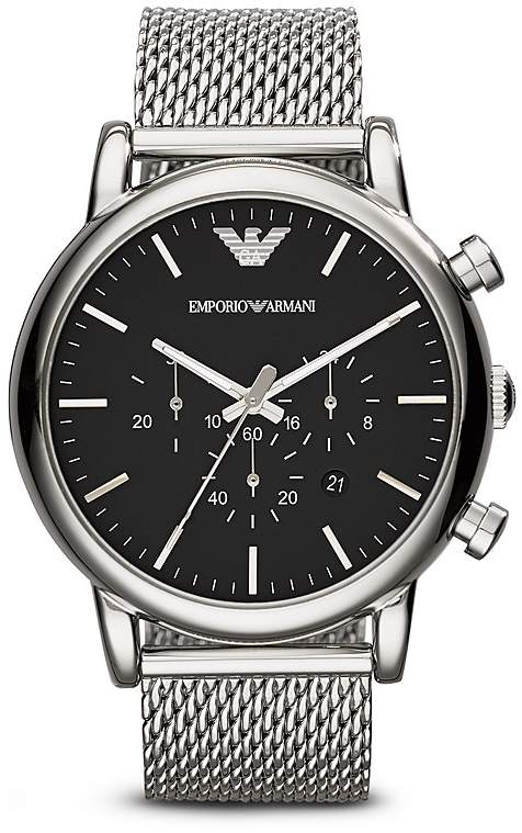 Emporio Armani Quartz Chronograph Stainless Steel Watch, 46 mm