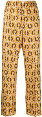 F.R.S For Restless Sleepers geometric printed trousers