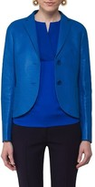 Akris Punto Women's Perforated Leather Blazer