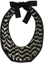 Leather Sequin Collar