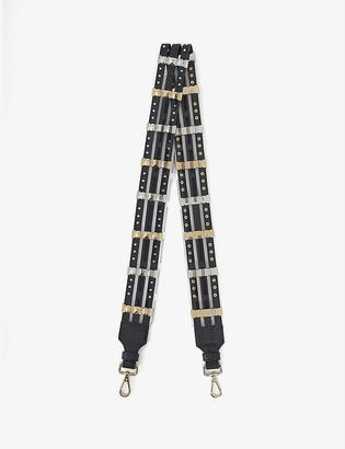 Maje Studded leather bag strap