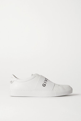 Givenchy Urban Street Logo-print Leather Slip-on Sneakers - White