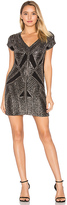 Karina Grimaldi Marinola Beaded Mini Dress in Black