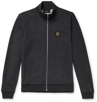 Belstaff Melange Cotton Zip-Up Sweatshirt