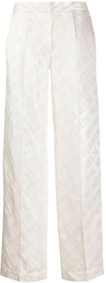 Kirin All-Over Logo Print High-Waisted Trousers