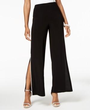 MSK Rhinestone Side-Slit Pants