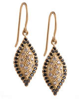 Jamie Wolf Scalloped Pave Diamond Marquise Earrings