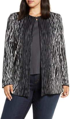 Ming Wang Animal Knit Jacket