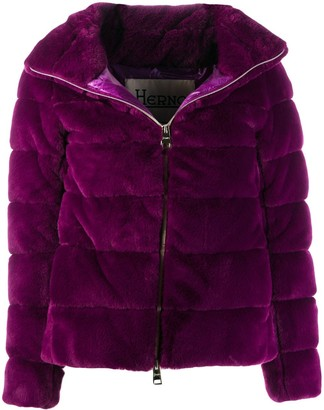 Herno quilted faux-fur jacket