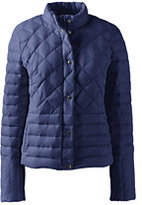 Lands' End Women's Petite Lightweight Down Packable Jacket-Midnight Indigo