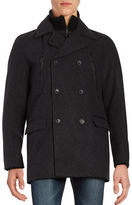 Calvin Klein Regular-Fit Wool Peacoat