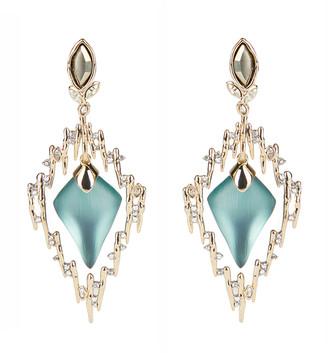 Alexis Bittar Navette Crystal Spiked Framed Clip Earring