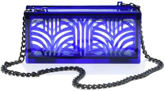 Vitro Atelier Jupiter Clutch In Cobalt Blue
