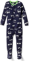 Gap Glow-in-the-dark eyes footed sleep one-piece