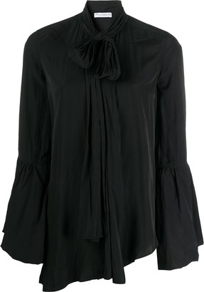 J.W.Anderson Tie-Neck Bell-Sleeves Blouse
