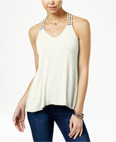 American Rag Crocheted-Back High-Low Tank Top, Only at Macy's