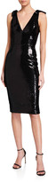 Dress the Population Mary V-Neck Sleeveless Micro Sequin Dress