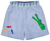 Florence Eiseman Striped Corduroy Gator Shorts, Blue, Size 6-24 Months