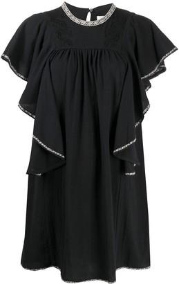 Etoile Isabel Marant Ruffled Sleeves Mini Dress