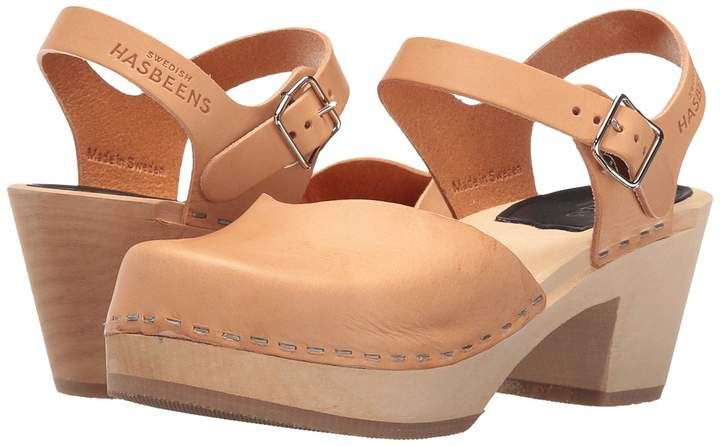 Swedish Hasbeens Covered High Women's Clog Shoes