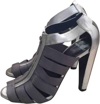 Pierre Hardy Silver Leather Sandals