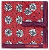 Turnbull & Asser Geometric Floral Pocket Square