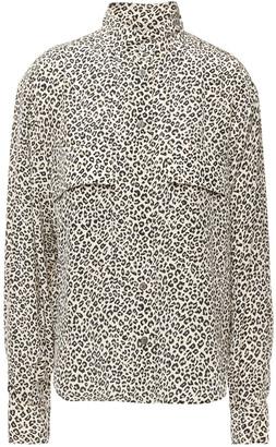 Frame Leopard-print Silk Crepe De Chine Shirt